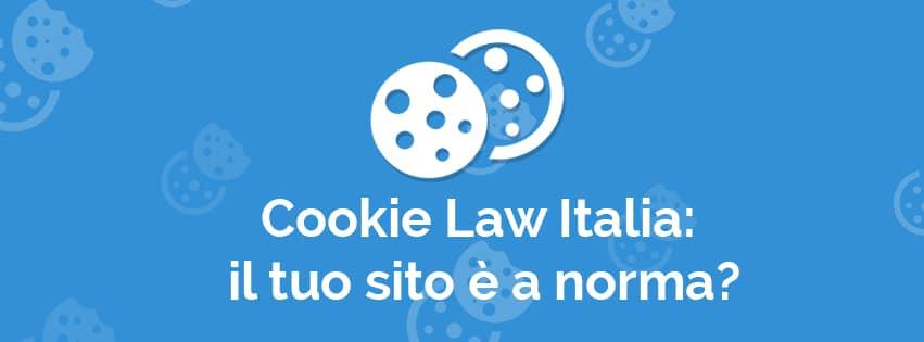 Cookie Law Italia sito web