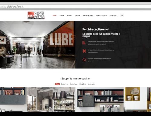 Sviluppo Sito Web Cucine Lube Official