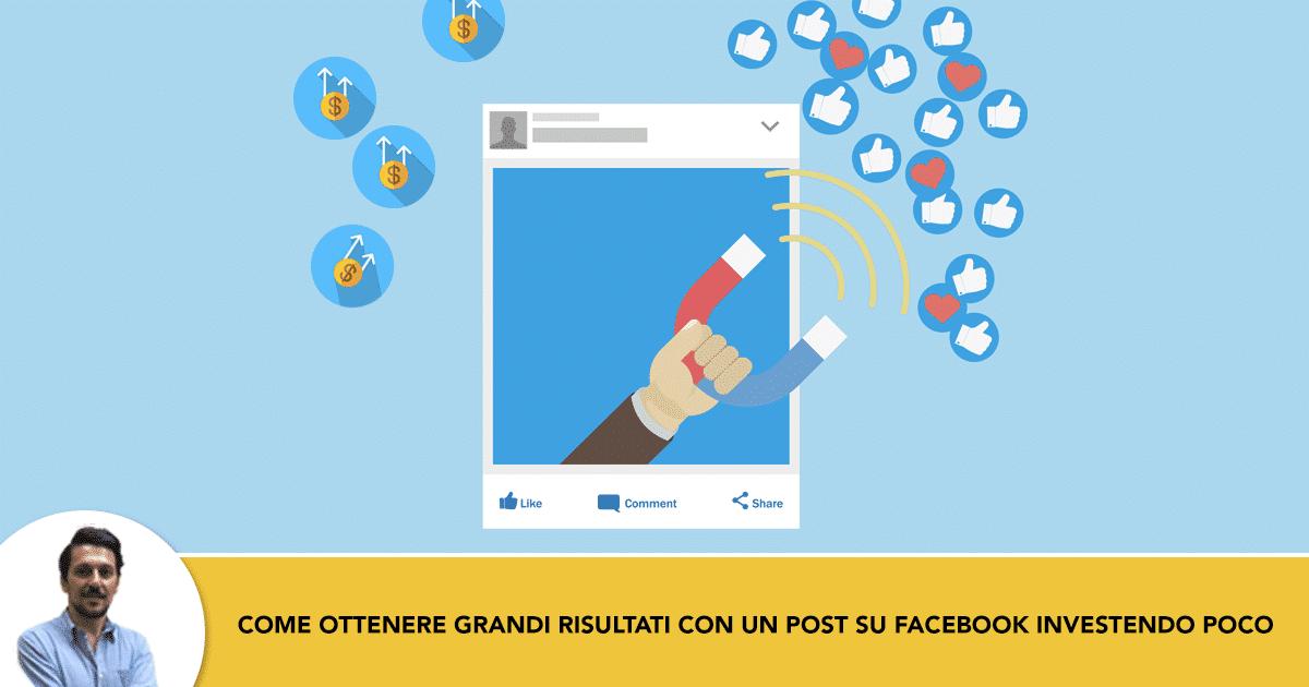 Come Sponsorizzare un Post su Facebook Investendo Poco e Con Grandi Risultati
